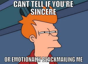 blackmailing