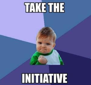 neem het initiatief