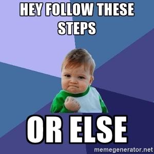 De stappen volgen is de weg naar succes
