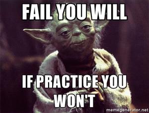 Oefenen is belangrijk
