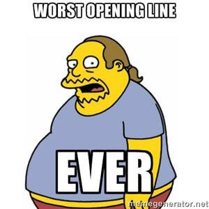 Slechte openingszin