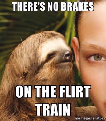 flirten in de trein