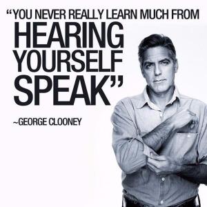 Je leer niet veel als je zelf aan het woord bent
