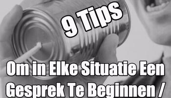 tips om een gesprek te beginnen / starten
