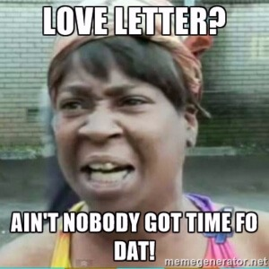 Liefdes briefje